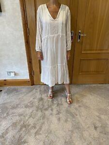 James Perse White Viscose Maxi Dress/size 3/8-12