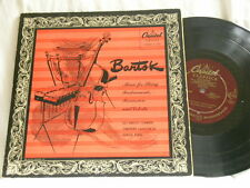 "BARTOK Music for String Percussion & Celesta VIC BERTON Byrns Capitol 10"" LP"
