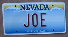 "NEVADA VANITY LICENSE PLATE   "" JOE "" JOEY JOSEPH JOSEPHINE JO"