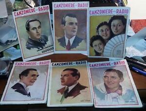 IL CANZONIERE DELLA RADIO.Quindicinale.Lotto di 6 numeri del 1941 e 1942
