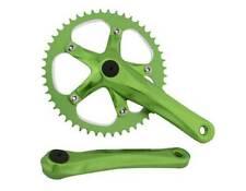 BICYCLE GREEN CRANK SET 48T X 170MM CRUISER LOWRIDER BMX MTB ROAD FIXIE CYCLING