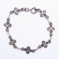 Early Vintage Ortak Malcolm Gray Scottish Sterling Silver Skara Brae Bracelet