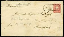GERMANY EMBOSSED  ENVELOPE #10a  10 PFENNIG USED LEIPZIG RIESA-DRESDEN 1.12.80
