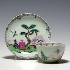 Cups & Saucers Blue Georgian Date-Lined Ceramics