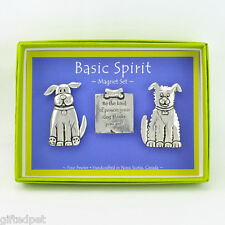 Handcrafted Pewter Dog Quote Boxed Magnet Set by Basic Spirit