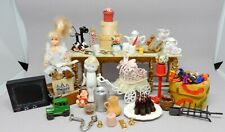 Vintage Dollhouse Accessories Lot Tea Set Baby Carriage Dollhouse Miniature 1:12