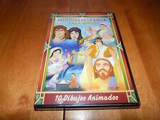 HISTORIAS DE LA BIBLIA PARA NINOS 10 DIBUJOS ANIMADOS Spanish DVD En Espanol NEW
