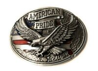 * Classic Soaring EAGLE AMERICAN PRIDE BELT BUCKLE Full Metal USA