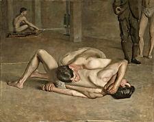 Thomas Eakins lottatori wall art canvas