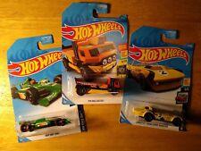 3 Hotwheels Variety - Indy500 Oval, Haulinator, Corvette Gp Roadster