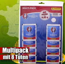 PANINI EM EURO 2016 France MULTIPACK con 8 cartocci Sticker NUOVO & OVP