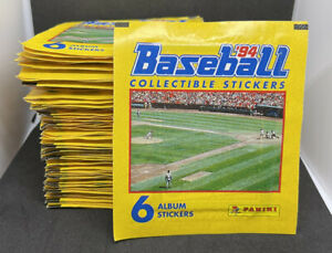 1994 Panini MLB Baseball Stickers - 71x Sealed Packs - 6 Stickers Per Pack