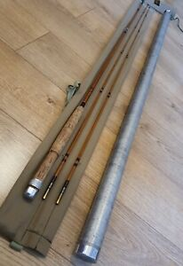 J S Sharpes of Aberdeen Scottie The Featherweight 7'6 impregnated split cane 2pc