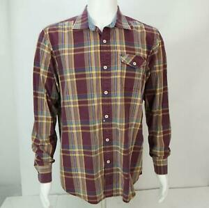 Tommy Bahama Jeans Island Crafted Men's Long Sleeves Shirt Multi-color M