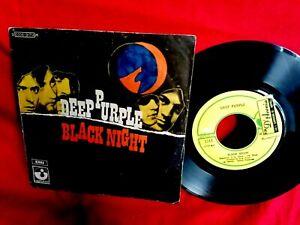 DEEP PURPLE Black night + Speed king 45rpm 7' + PS ITALY 1970 EX