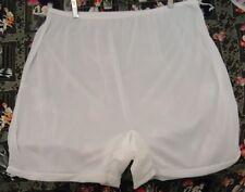 NOS Vtg Snow White SILKY Nylon Panties NO Cotton USA sz 13 W 36-58 Pillowtab