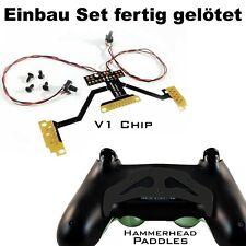 Ps4 Controller remapper soldadura con estaño, chip v1 + martillo negro paddles y tornillos