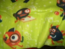 Green monsters toddler fleece 36x29   blanket free personalized