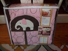 NIP Carter's Pink Elephant Collection Pink 4pc Crib Bedding Set