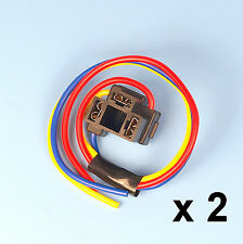 2 x H4 3 Pin Headlight Replacement Repair Bulb Holder Connector Plug Wire Socket