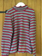 Mayoral Chic Lovely Girls Grey & Red Striped Top Age 7yrs
