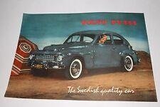 1956-57 Volvo PV444 Sedan Factory Brochure, Original