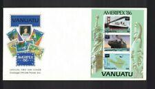 MBC6) Vanuatu 1986 AMERIPEX Minisheet FDC