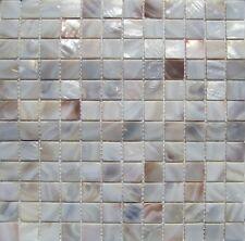 """Genuine Mother of Pearl Natural Backsplash Tile 1"""" Squares on 12"""" x 12"""" on mesh"""