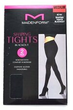 Maidenform Shaping Tights Blackout Medium 2 Pack New