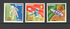 Ghana 1967 ORBITER 1 LANDING ON MOON, ASTRONAUT SPACE WALK MNH Sc 305-07 SG
