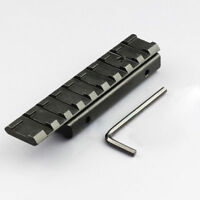 11mm Dovetail to 20mm Weaver Picatinny Rail Adapter Tactical Scope Extend Mount