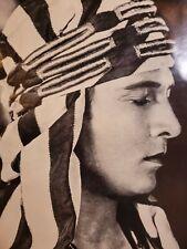 "Poster of Rudolph Valentino Movie ""The Sheik"""