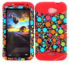 KoolKase Hybrid Silicone Cover Case for HTC One X S720e - Polka Dots Color 06