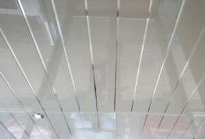 6 x White Gloss Silver 2 Strip 200mm x 2700mm x 6mm PVC Wet Wall cladding Panels