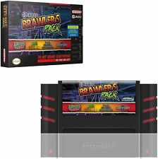 Retro-Bit 4in1 Jaleco Brawler's Pack SNES Cartridge: Brawl Brother Rival Turf