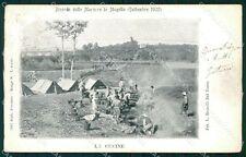 Firenze Mugello Manovre Militari 1902 cartolina KF2711