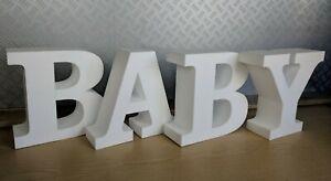 Baby Lettering 400m high - christening/new baby/newborn - Polystyrene
