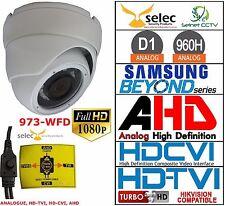 Salida de cuatro Blanco 2MP 3.6mm Cctv Cámara Domo Multi Protocol HD TVI CVI dispositivo antimanipulación Tvl