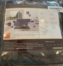 Rose Home Fashion Reversible Sofa Cover Gray