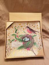 Fringe - Christmas - Glass Square Plate - Bird, Nest and Eggs