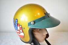 1960's STADIUM PROJECT 2 CRASH HELMET SIZE 3 WELL WORN AND WELL USED