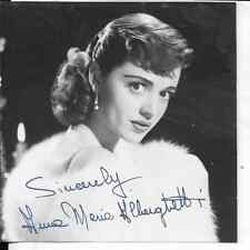 4X4 CROPPED HOLLYWOOD PHOTO OF Anne Marie CHERGBETH  I BELIEVE AUTO SIGNED