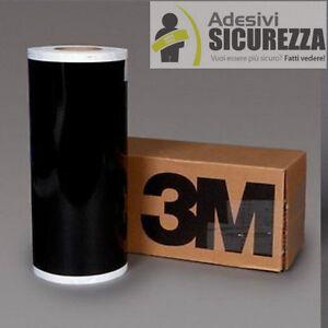 "3M™ scotchlite reflective vinyl tape black color 200mm(8"") x 2 mt helmet bike"