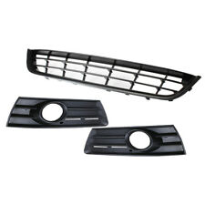 Front Lower Center Grille + Fog Light Grill W/ Hole Panel Kit For VW CC 09-12