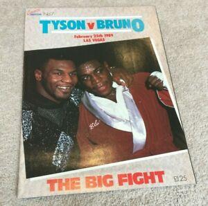 1989 Poster Magazine Mike Tyson v Frank Bruno The Big Fight