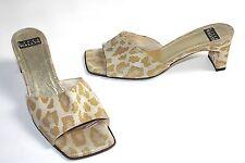 Elegante Damen-Sandalen & -Badeschuhe aus Echtleder mit Tiermuster