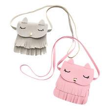 Children Kids Girls Cat Tassel Handbag Shoulder Messenger Bags Crossbody Wallet