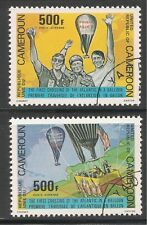 Cameroun #C285-286 VF Used - 1979 500fr 1st Transatlantic Balloon Crossing