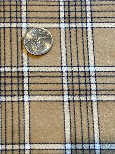 Cotton Flannel Fabric Brown Plaid 1 Yd