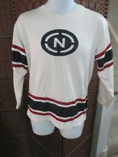 Vintage Nautica Jeans Long Sleeve Jersey Shirt Adult M/L 16-18 White Blue red